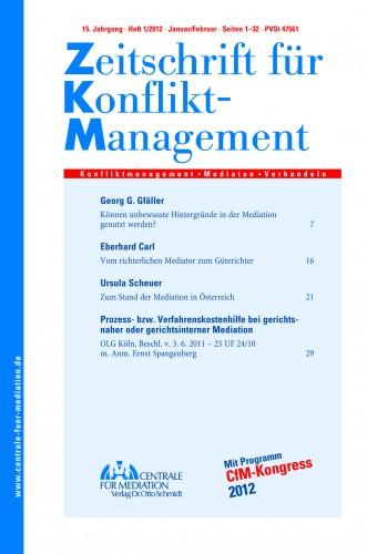 Umgang mit Emotionen in Verhandlungen Zeitschrift für Konfliktmanagement 2011